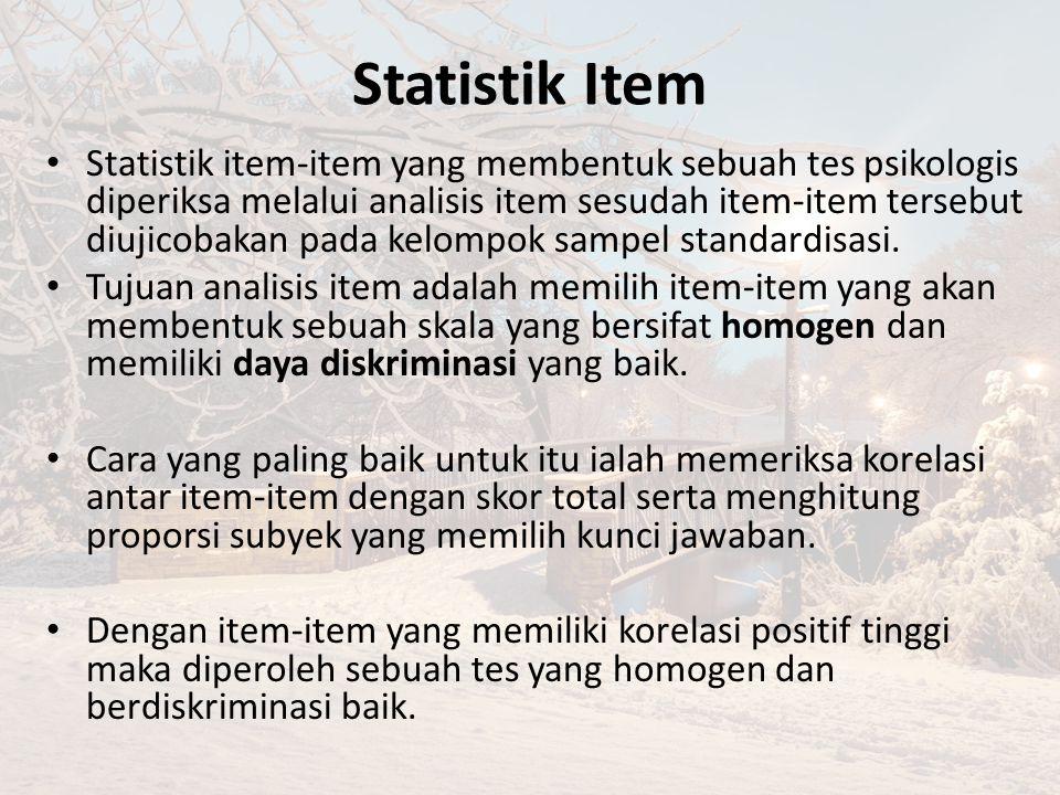 Statistik Item