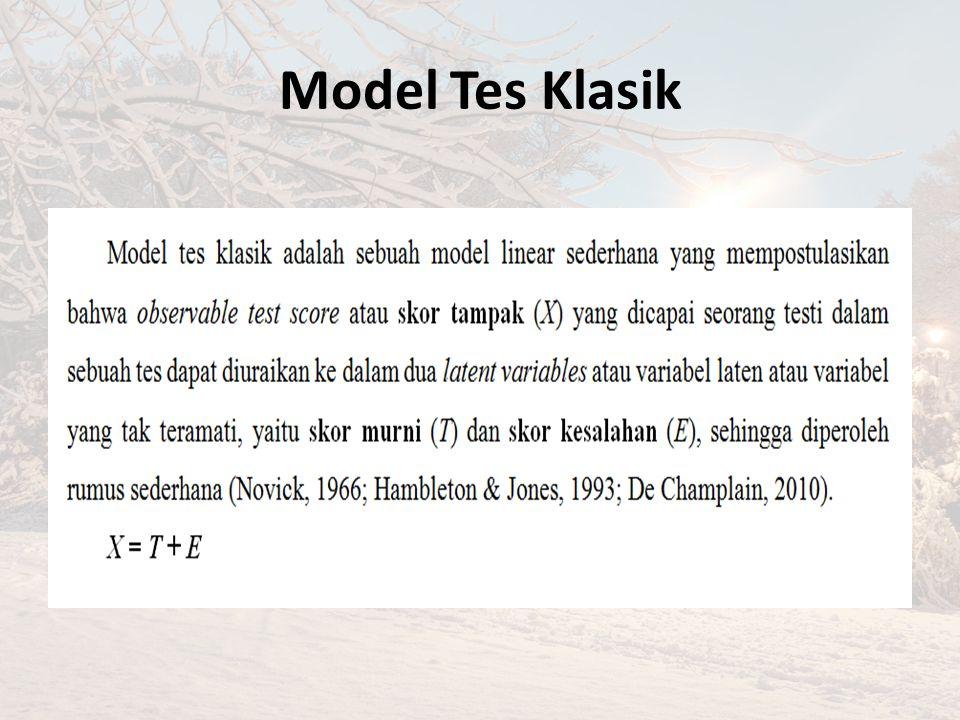 Model Tes Klasik