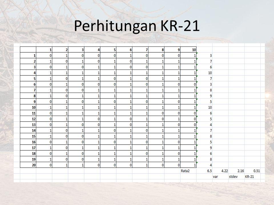 Perhitungan KR-21