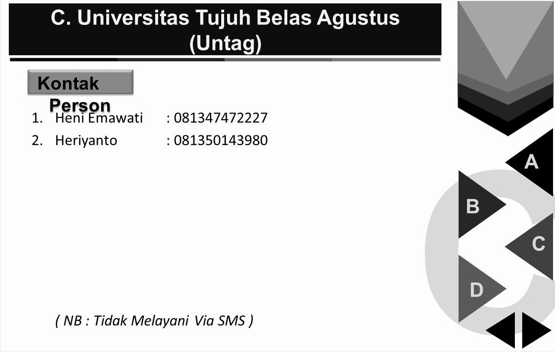 C. Universitas Tujuh Belas Agustus (Untag)