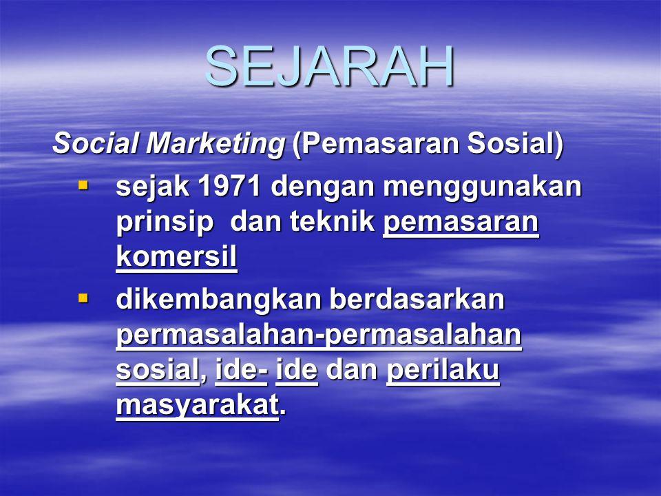 SEJARAH Social Marketing (Pemasaran Sosial)