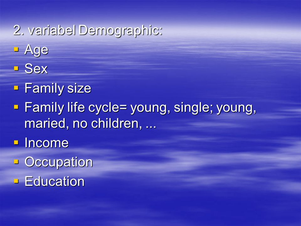 2. variabel Demographic: