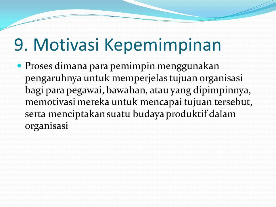 9. Motivasi Kepemimpinan
