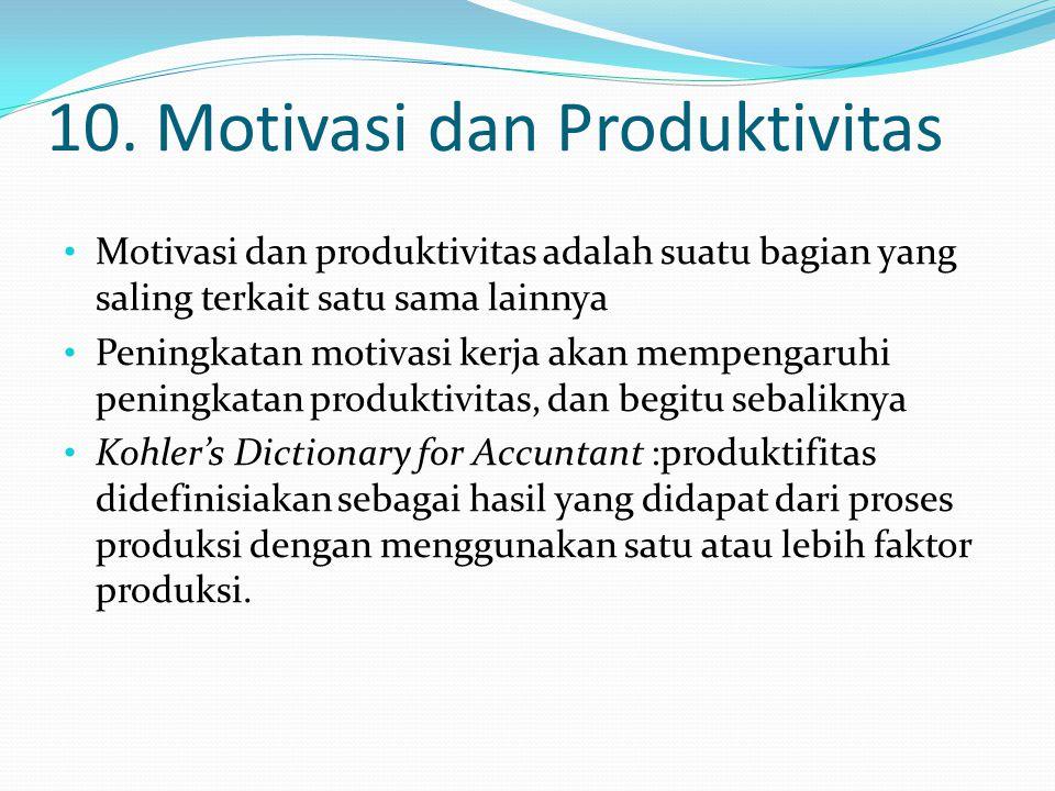 10. Motivasi dan Produktivitas