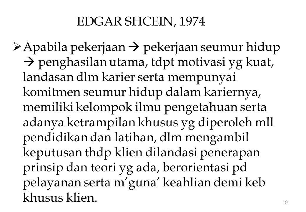 EDGAR SHCEIN, 1974
