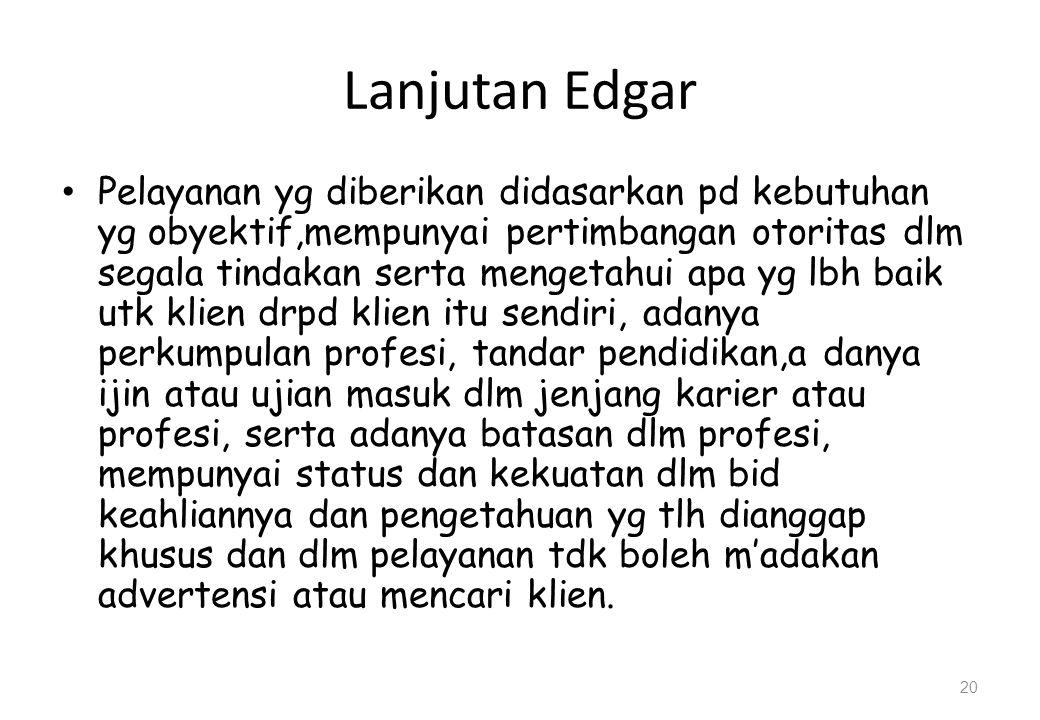 Lanjutan Edgar