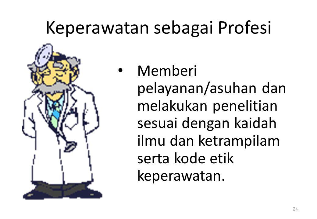 Keperawatan sebagai Profesi