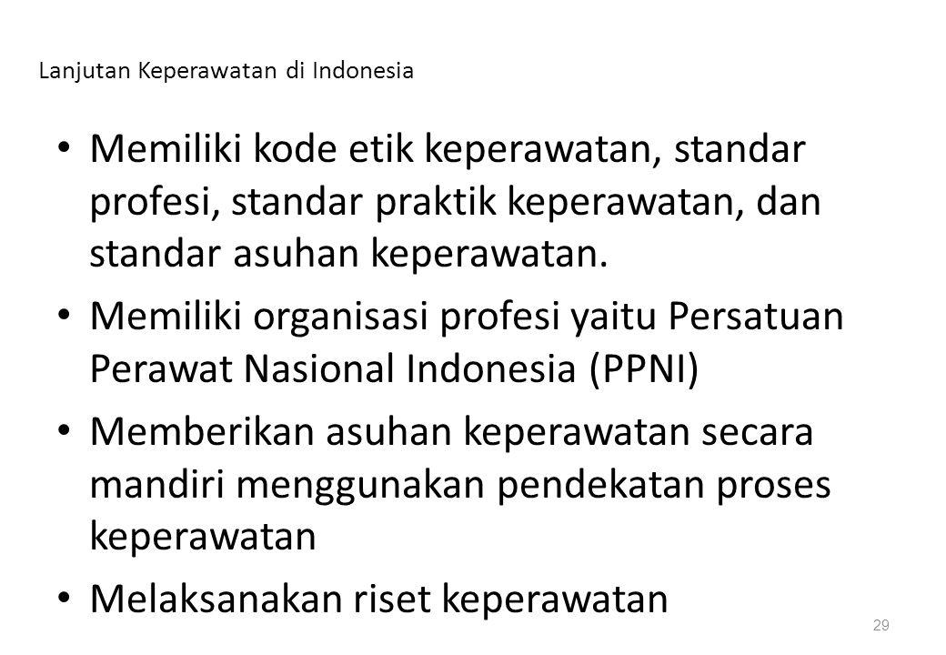 Lanjutan Keperawatan di Indonesia