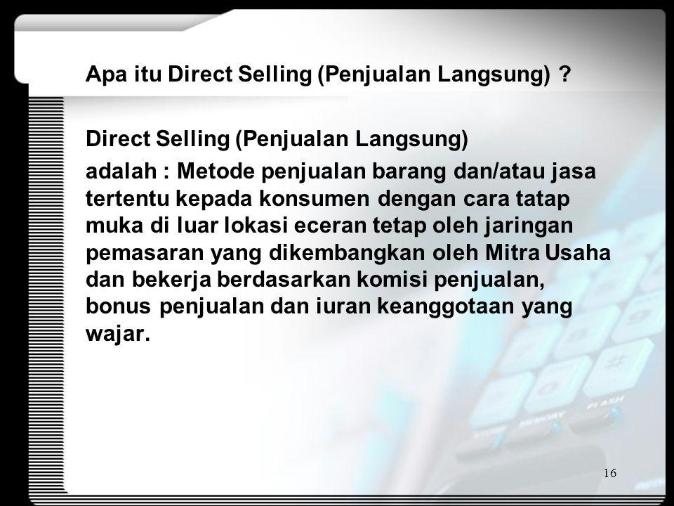 Apa itu Direct Selling (Penjualan Langsung)