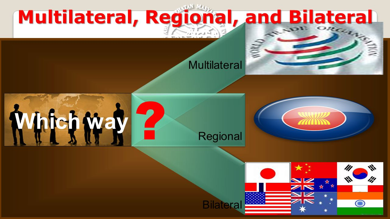 Which way Multilateral, Regional, and Bilateral Multilateral