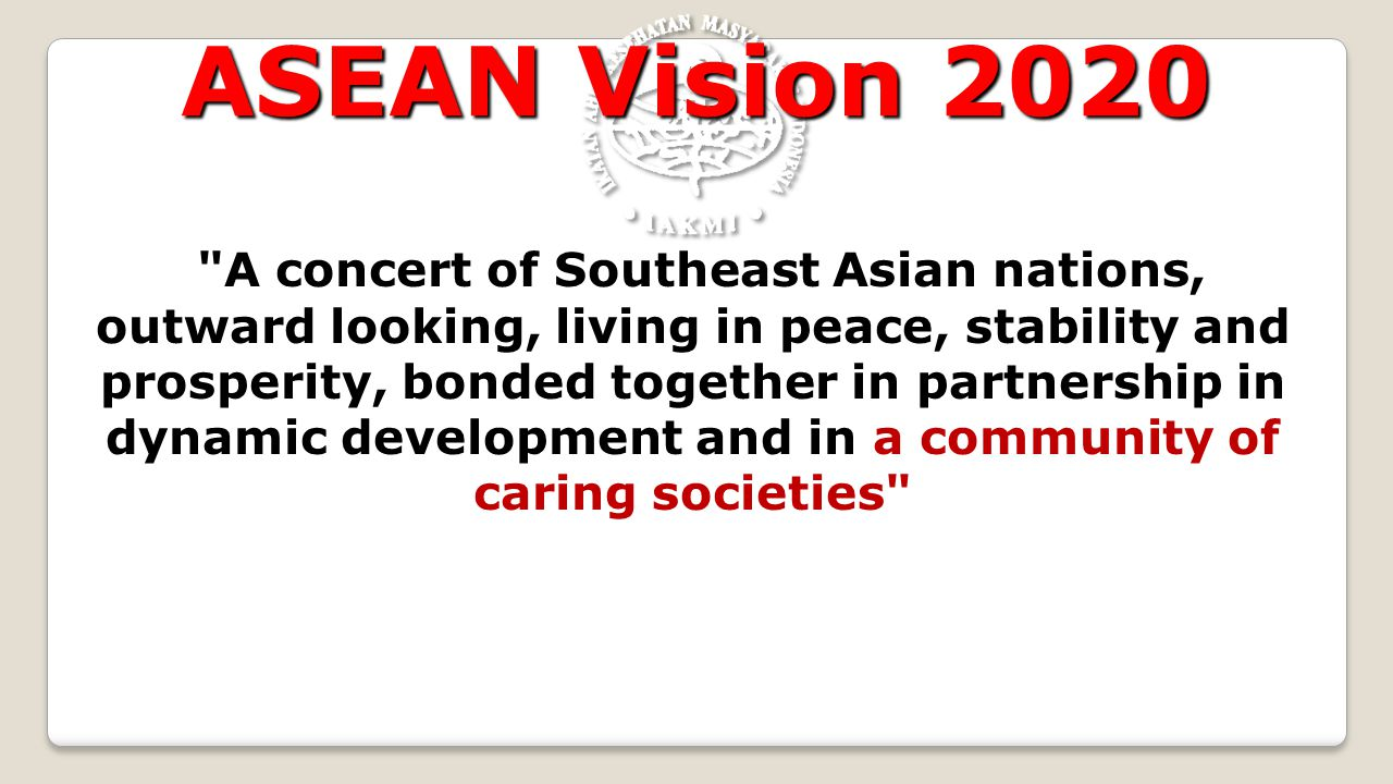 ASEAN Vision 2020