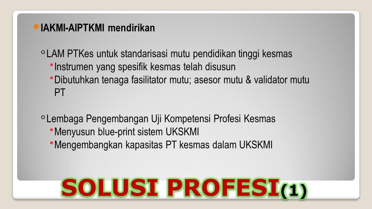 SOLUSI PROFESI(1) IAKMI-AIPTKMI mendirikan