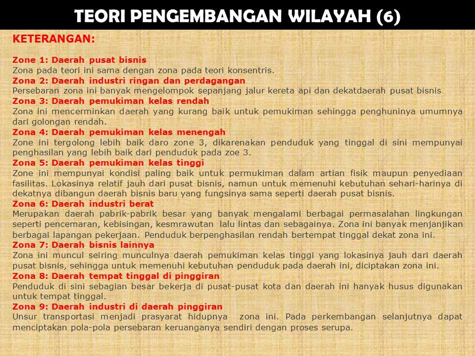 TEORI PENGEMBANGAN WILAYAH (6)
