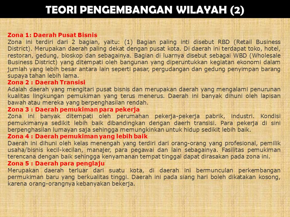 TEORI PENGEMBANGAN WILAYAH (2)