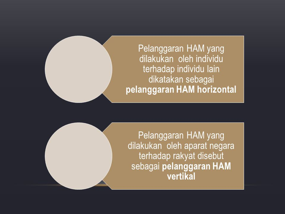 Pelanggaran HAM yang dilakukan oleh individu terhadap individu lain dikatakan sebagai pelanggaran HAM horizontal
