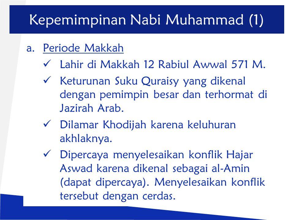 Kepemimpinan Nabi Muhammad (1)