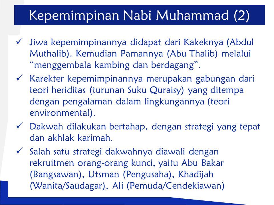 Kepemimpinan Nabi Muhammad (2)