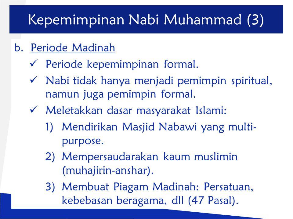 Kepemimpinan Nabi Muhammad (3)