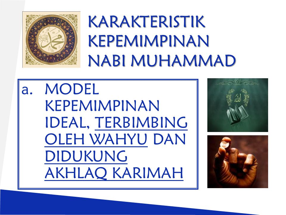 KARAKTERISTIK KEPEMIMPINAN NABI MUHAMMAD