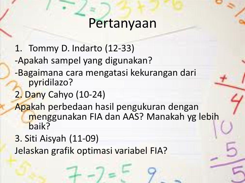 Pertanyaan Tommy D. Indarto (12-33) -Apakah sampel yang digunakan