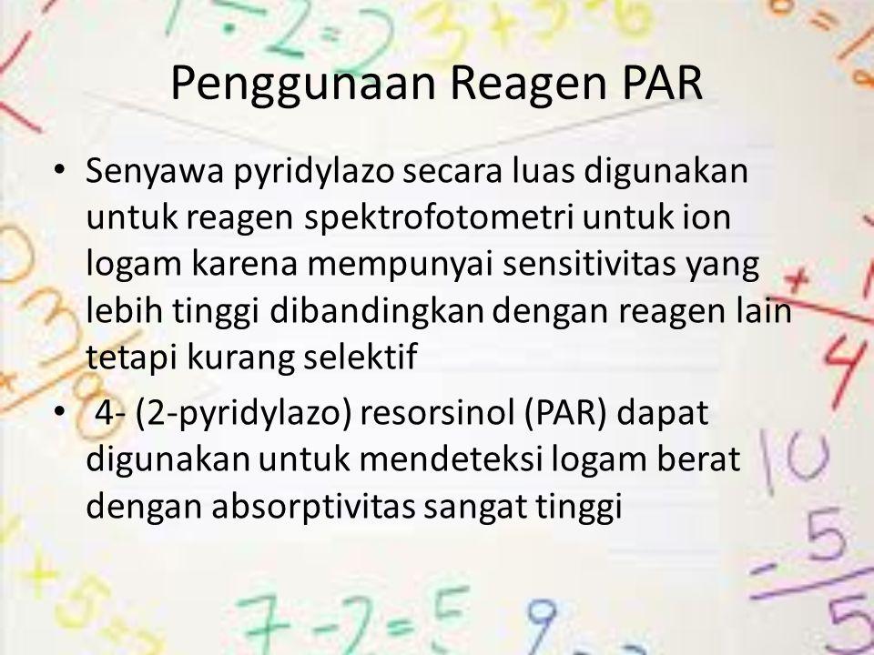 Penggunaan Reagen PAR