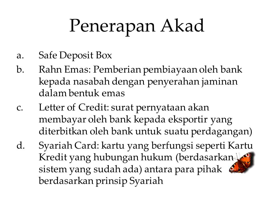 Penerapan Akad Safe Deposit Box