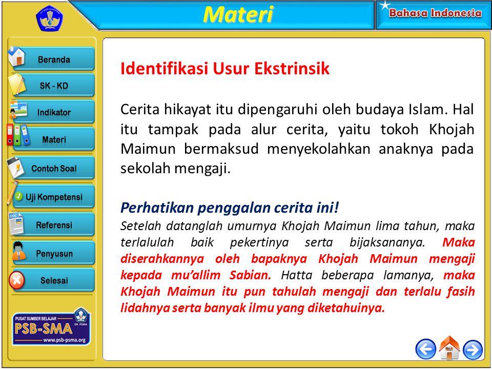 Materi Identifikasi Usur Ekstrinsik
