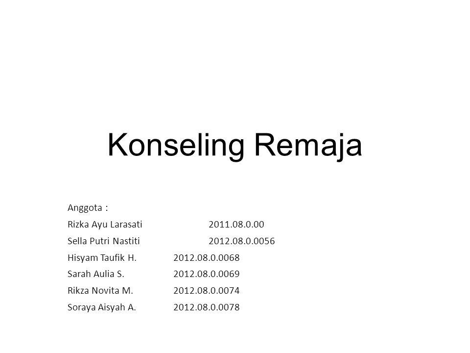 Konseling Remaja Anggota : Rizka Ayu Larasati 2011.08.0.00