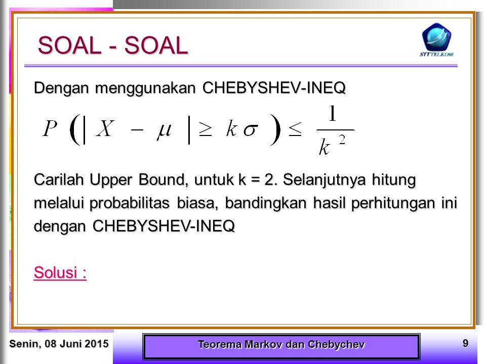 Teorema Markov dan Chebychev