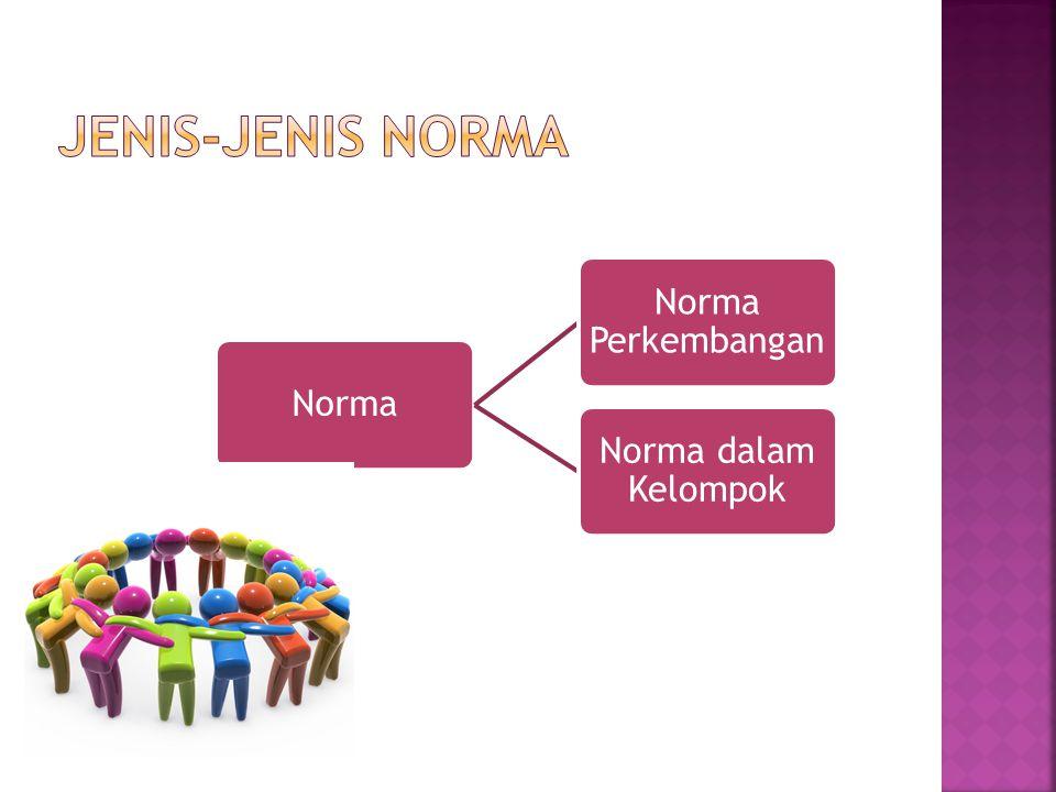 Jenis-Jenis Norma Norma Norma Perkembangan Norma dalam Kelompok