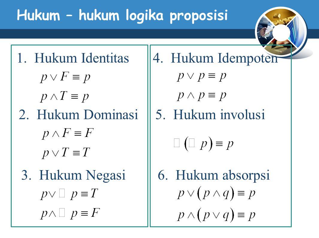 Hukum – hukum logika proposisi