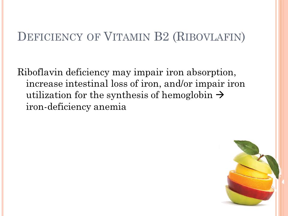 Deficiency of Vitamin B2 (Ribovlafin)
