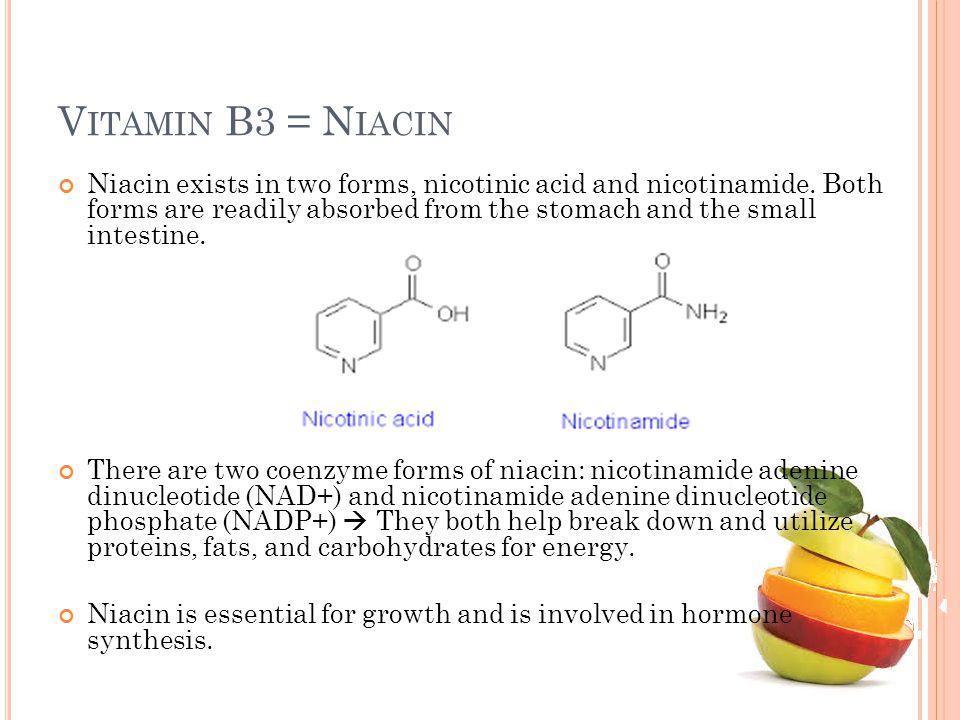 Vitamin B3 = Niacin