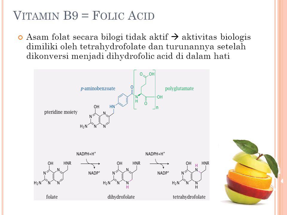 Vitamin B9 = Folic Acid