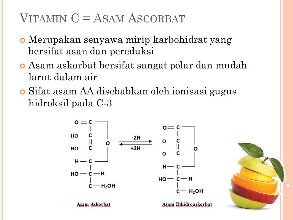 Vitamin C = Asam Ascorbat