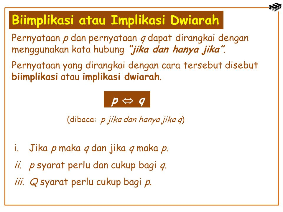 Biimplikasi atau Implikasi Dwiarah