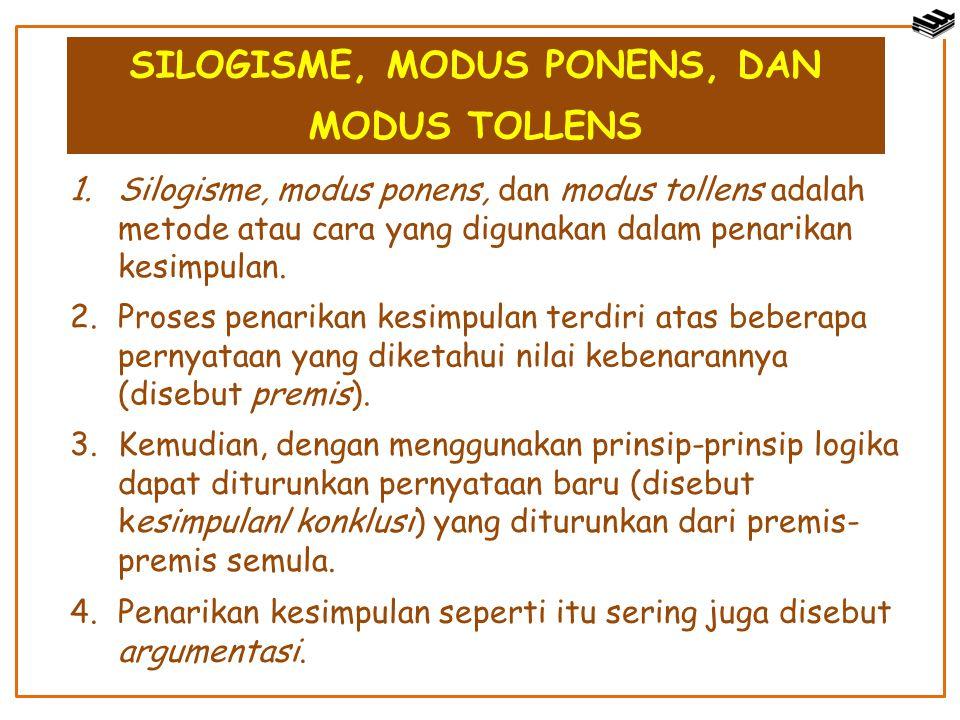 SILOGISME, MODUS PONENS, DAN