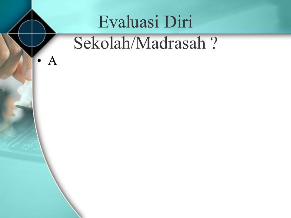 Evaluasi Diri Sekolah/Madrasah