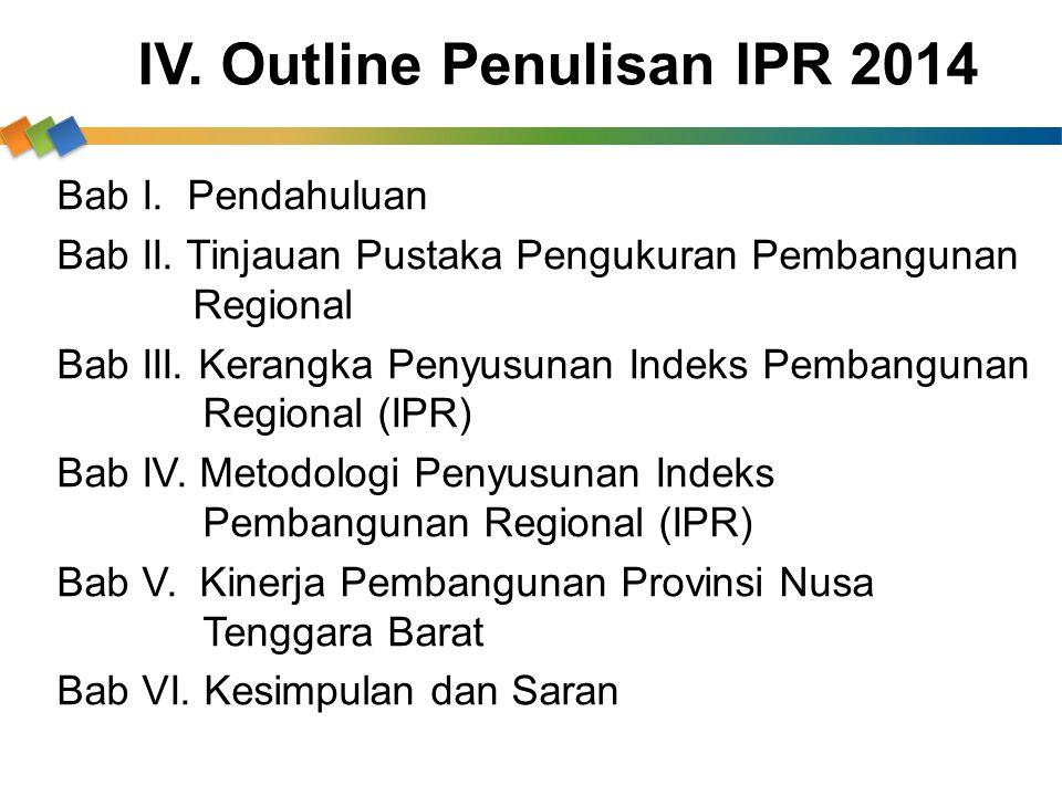 IV. Outline Penulisan IPR 2014
