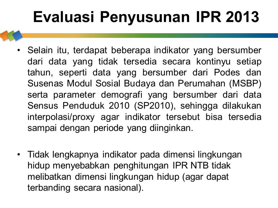 Evaluasi Penyusunan IPR 2013