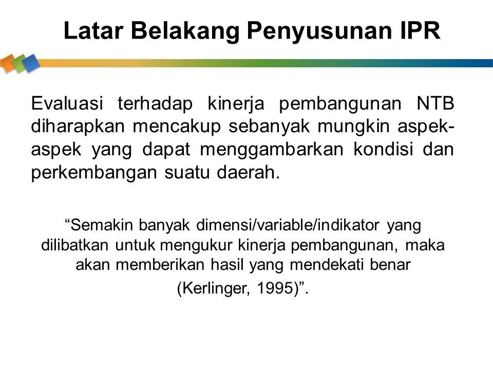 Latar Belakang Penyusunan IPR