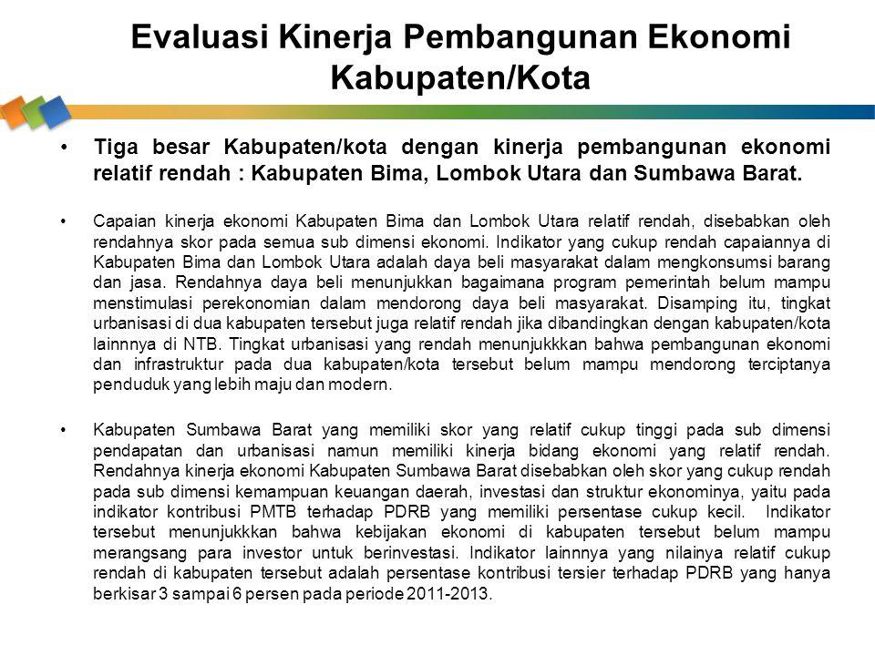 Evaluasi Kinerja Pembangunan Ekonomi Kabupaten/Kota