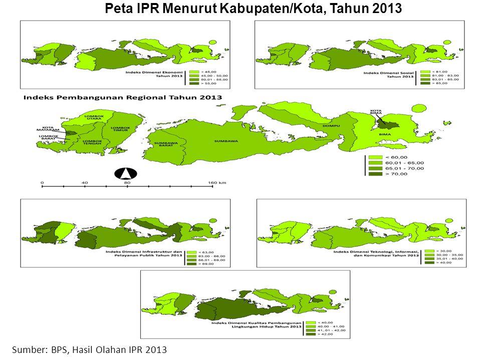Peta IPR Menurut Kabupaten/Kota, Tahun 2013
