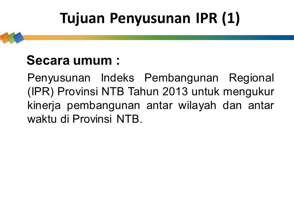 Tujuan Penyusunan IPR (1)