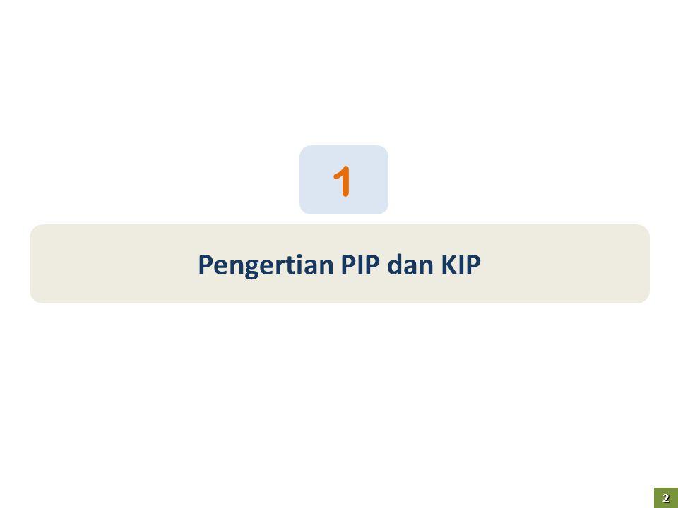 1 Pengertian PIP dan KIP 2