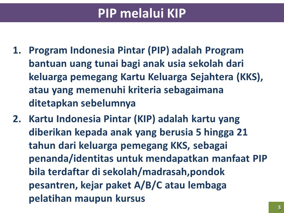 PIP melalui KIP
