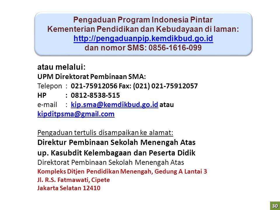 Pengaduan Program Indonesia Pintar