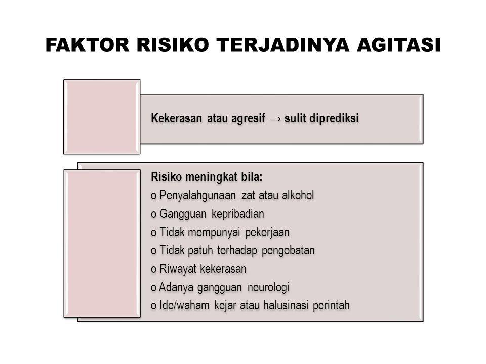 FAKTOR RISIKO TERJADINYA AGITASI