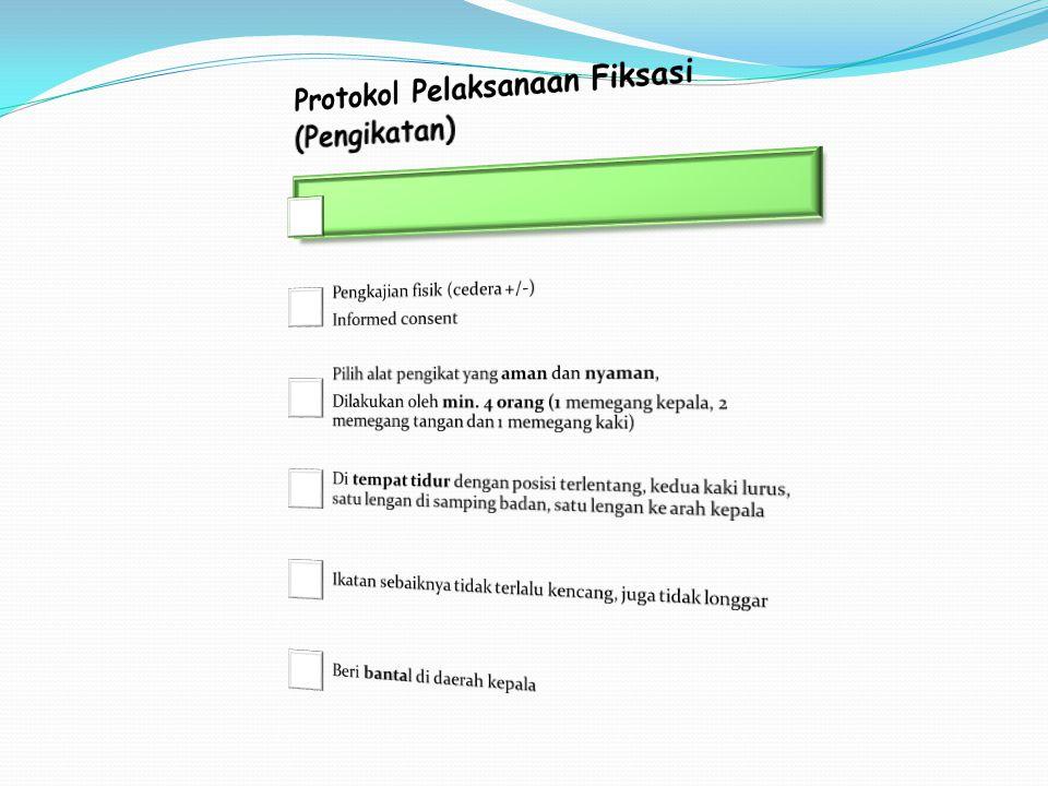 Protokol Pelaksanaan Fiksasi (Pengikatan)