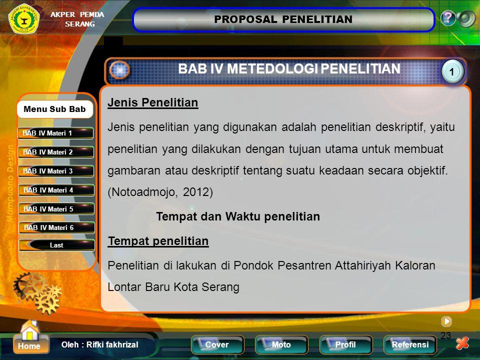 BAB IV METEDOLOGI PENELITIAN